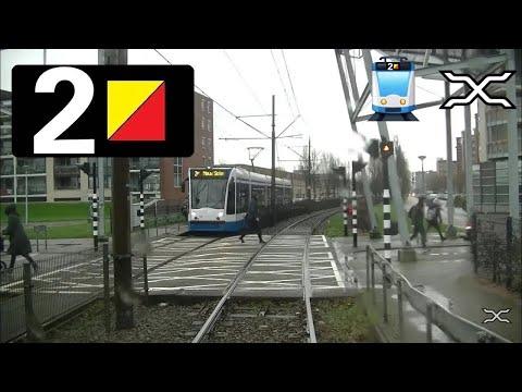 🚋 GVB Amsterdam Tramlijn 2 Cabinerit Nieuw Sloten - Centraal Station met 11G  Driver