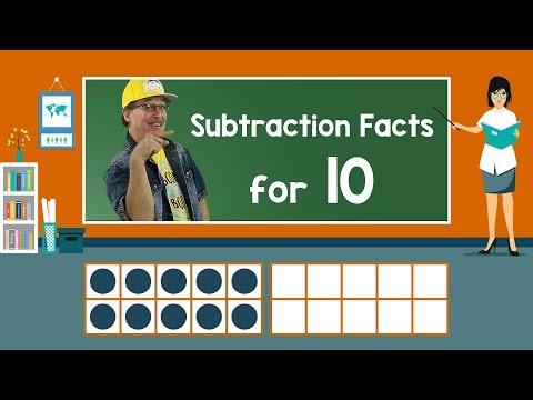 Practice Our Subtraction Facts for 10 | Subtraction Song | Math Song for Kids | Jack Hartmann