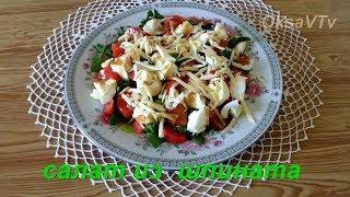 Салат из шпината с устричным соусом. Salad with spinach and oyster sauce.