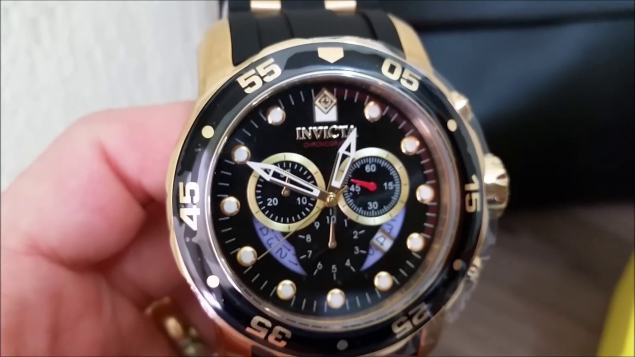 f3c8252f8b5 Relógio Invicta 6981 Pro Diver Scuba B. Ouro 100% Original - YouTube
