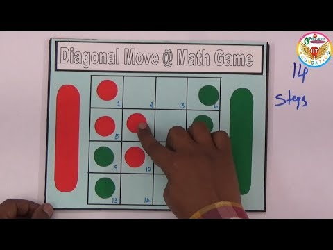 Diagonal Move @ Math Game Puzzle With Solution || Maths Project ||