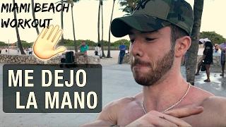 Entrenando en MIAMI BEACH   Me reviento la mano #Vlog 3
