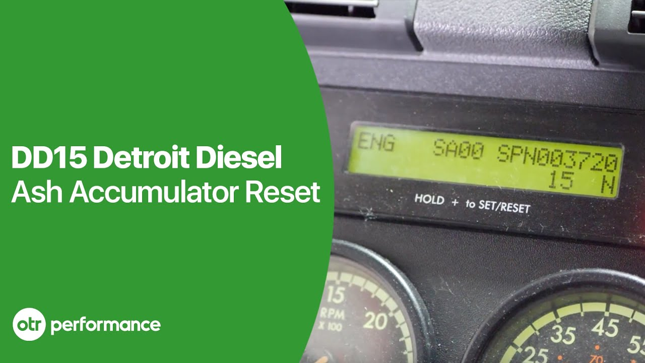 DD15 Soot Level Very High Reset | Ash Accumulator Reset | OTR Performance