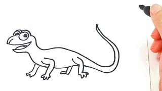 How to draw a Lizard | Lizard Drawing Lesson Step by Step