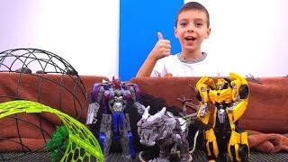 Видео для детей: Где Бамблби? Игры в Трансформеры