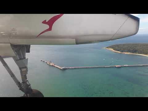 QANTAS Link Landing Sydney Dash 8 Q400 In 4K