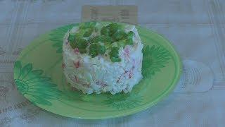 Салат из крабовых палочек с сыром и чесноком