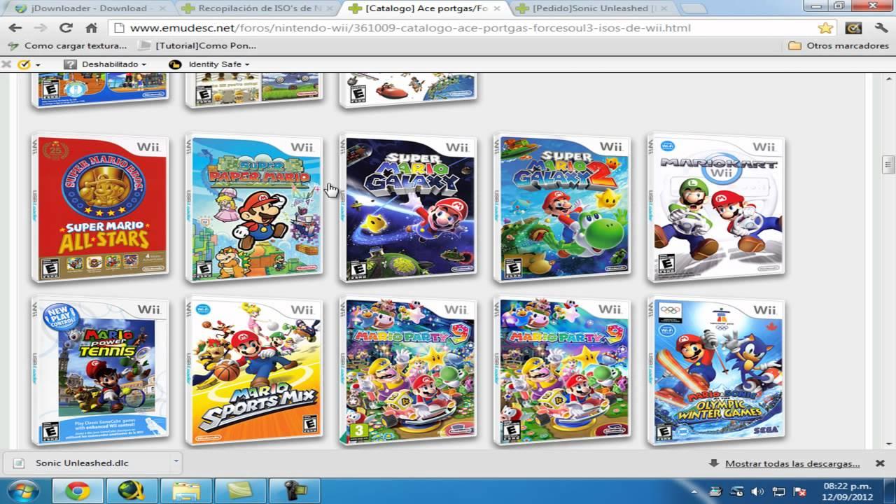 Descargar Juegos De Nintendo Wii Con Jdownloader Youtube