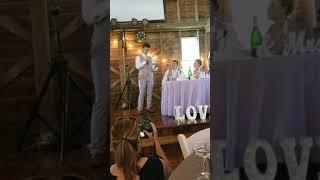 Garske's wedding speech