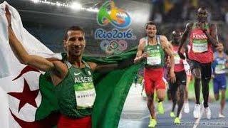 توفيق مخلوفي يهدي للجزائر فضية أخرى في 1500 متر ❤ شـــكرا لــك يـــا حبــيــب الملايين ❤21-08-2016