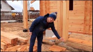 Этапы строительства дома из двойного бруса в Мачулищах(, 2016-05-12T14:02:52.000Z)