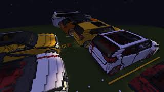 Minecraft cars map new cars and updates 1