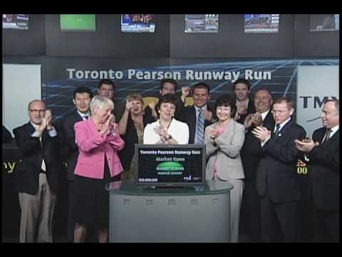 Toronto Pearson Runway Run opens Toronto Stock Exchange, June 17, 2010.