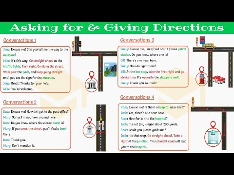 How to ASK FOR and GIVE DIRECTIONS in English 👉 Daily English Conversation (Part I)