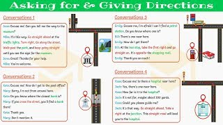 How to ASK FΟR and GIVE DIRECTIONS in English 👉 Daily English Conversation (Part I)