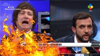 Javier Milei on fire contra un diputado peronista, Intratables- 18/04/18