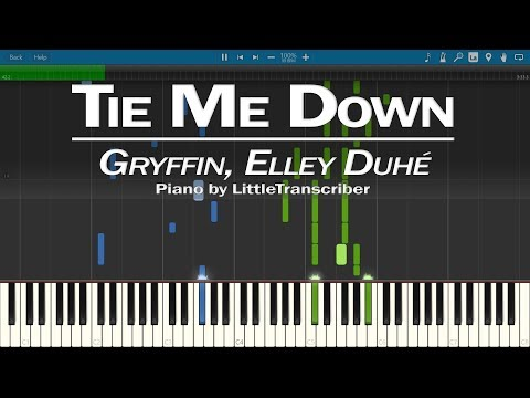 Gryffin, Elley Duhé - Tie Me Down (Piano Cover) Synthesia Tutorial By LittleTranscriber
