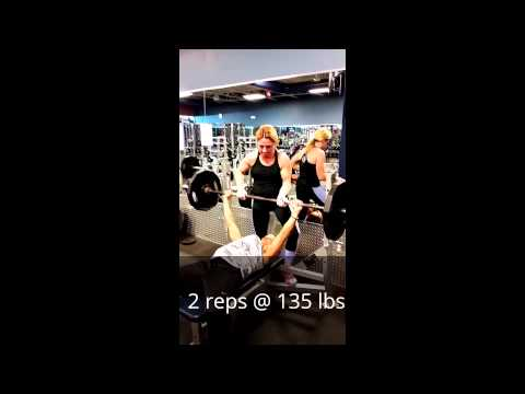Deb Banaian and T Morriarty bench Press Personal Records...