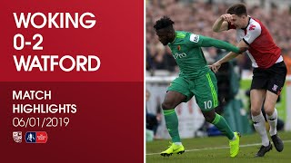 Woking 0 - 2 Watford   Match Highlights