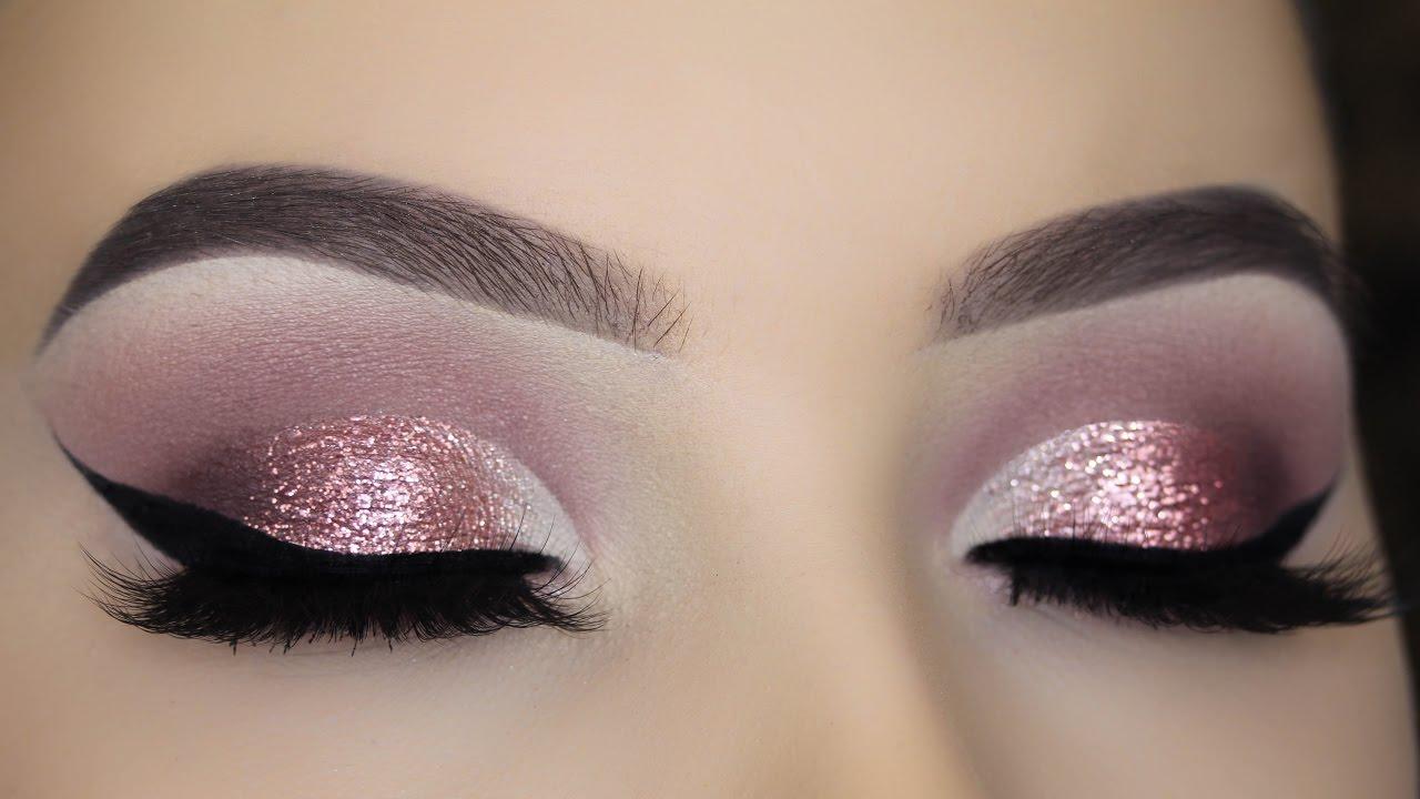 Pink glitter eye makeup-2925