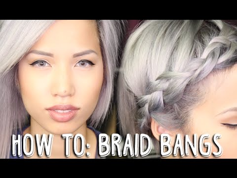 How to braid bangsfringe youtube how to braid bangsfringe urmus Image collections