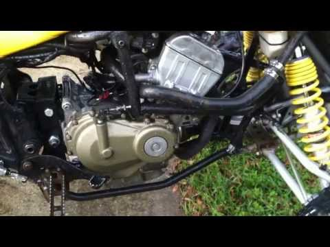 (walk around description)  CBR600 F4i streetbike engine in Bombardier quad 4 wheeler frame