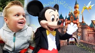 SURPRISE DISNEYLAND VACATION! MEETING MICKEY MOUSE AND DISNEY SWIMMING!