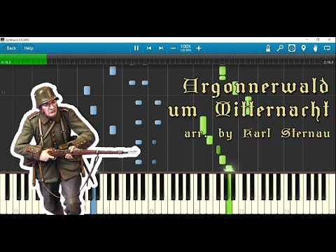 Argonnerwald Um Mitternacht (piano Arr. By Karl Sternau) W/ Sheet Music