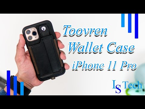 TOOVREN IPhone 11 Pro Wallet Case With Kickstand