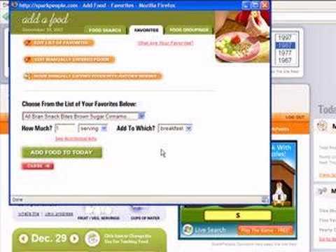 Nutrition Tracker on SparkPeople