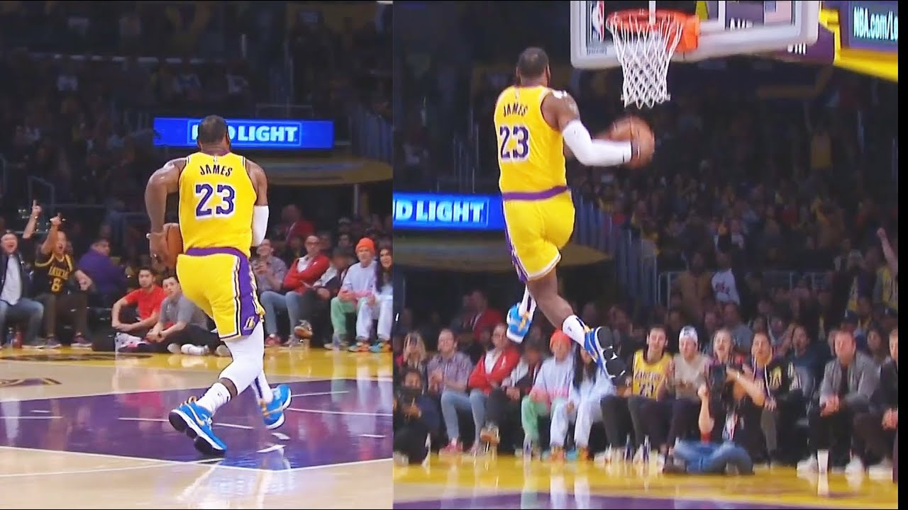 Lebron James Makes Entire Lakers Crowd Go Crazy After His Craziest Dunk Lakers Vs Rockets Youtube