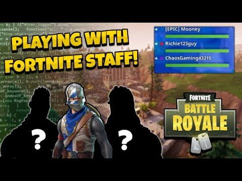 PLAYING FORTNITE WITH AN EPIC GAMES STAFF!