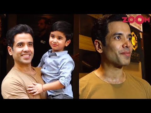 Tusshar Kapoor celebrates his son's 3rd birthday & AVOIDS a question