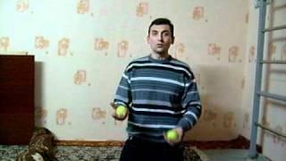 Обучение жонглированию тремя мячами
