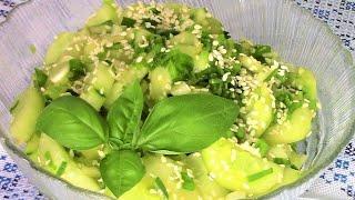 Салат из огурцов с зеленым луком по  корейски - легкий, простой, низкокалорийный и очень вкусный.