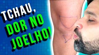 No joelho dor muscular puxada