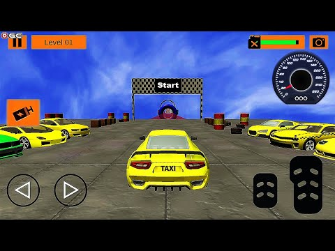 Taxi Stunt Master 3D Car GT Drive Mega Ramp Game - Impossible Car Stunts Racing - Android GamePlay
