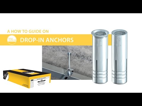 """Drop-In Anchors - TIMco """"How To Tuesday"""" - Heavy duty anchor for concrete"""