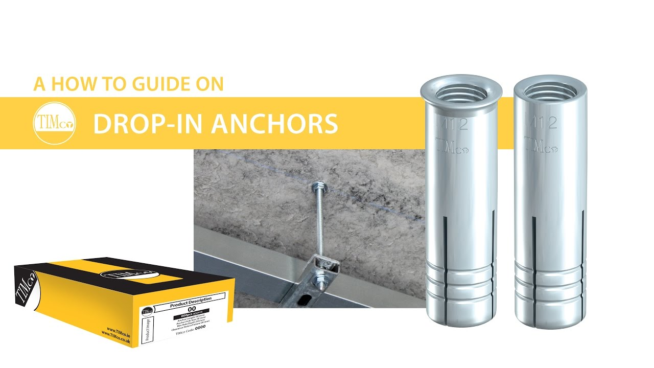 "drop-in anchors - timco ""how to tuesday"" - heavy duty anchor for"