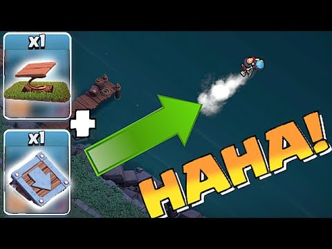 Clash of Clans PUSH TRAP TO THE OTHER SIDE!! | COMBINE UPGRADES!