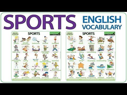 Sports - Names Of Sports In English - Sport Vocabulary Lesson
