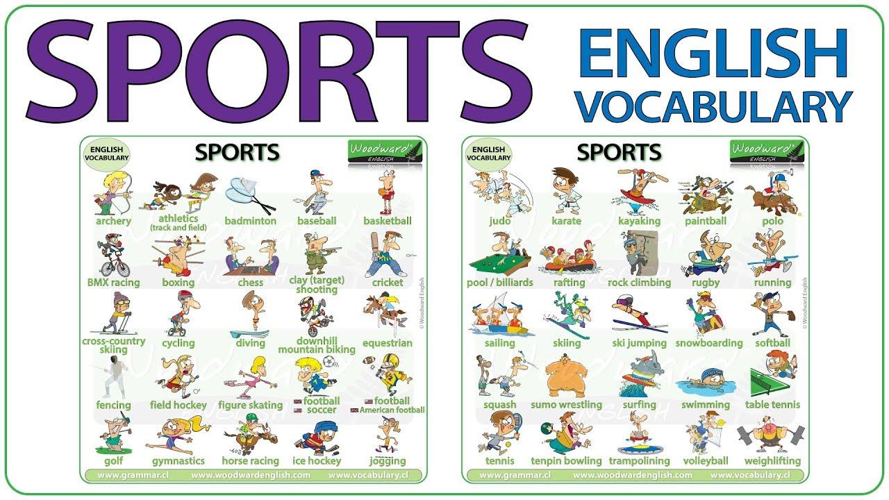 vocabulary sports names sport english lesson