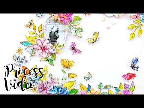 Watercolour Wildflowers | Scrapbook Process Video | Pinkfresh Studio Watercolour Blog Hop!