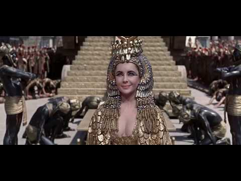 Cleopatra 1963  Elizabeth Taylor  Entrance into Rome   HD