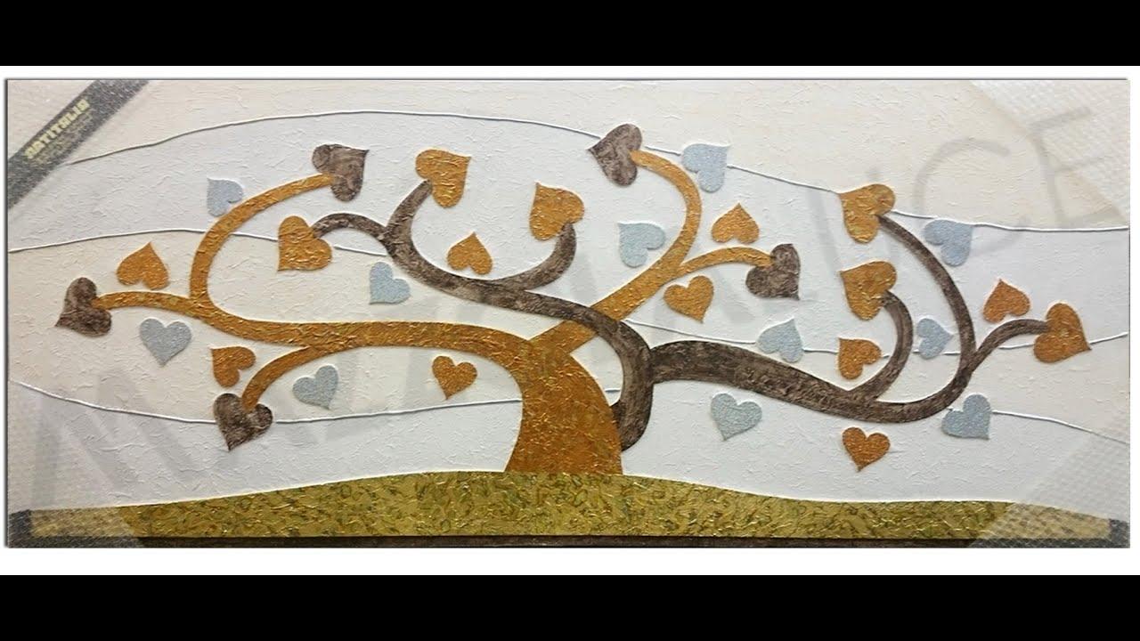 Quadro albero della vita con cuori www.mazzolaluce.com - YouTube