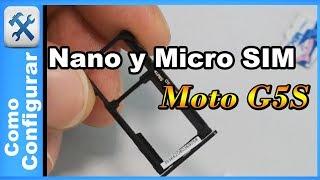 Como poner la Nano SIM y Micro SD en tu celular (Motorola Moto G5S)