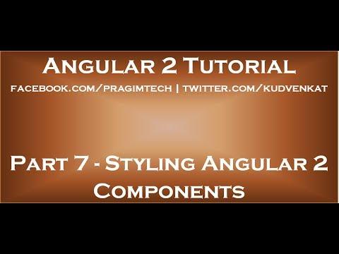 Styling Angular 2 Components