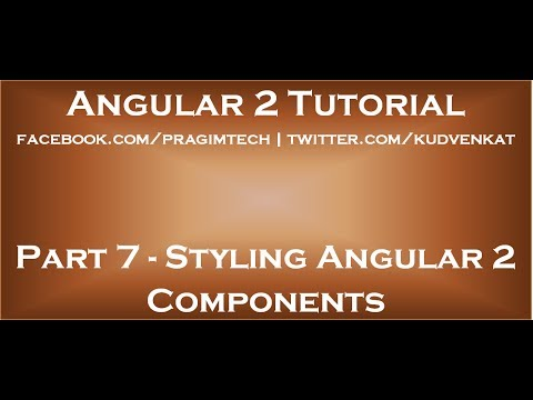 Styling Angular 2 Components