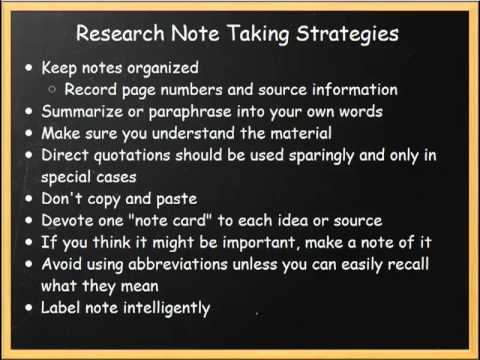 Research note taking