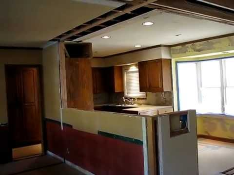 Galley Kitchen Remodel Remove Wall galley kitchen open floor plan remodelhomework remodels - youtube